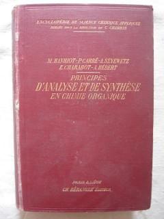principes d'analyse et de synthèse en chimie organique