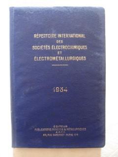 Répertoire international des sociétés électrochimiques et électrométallurgiques.