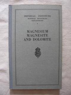 Magnesium, magnesite and dolomite