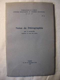 Notes de pétrographie