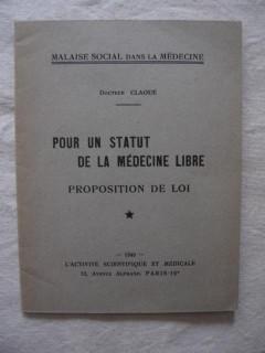 Pour un statut de la médecine libre