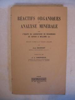 Réactifs organiques en analyse minérale