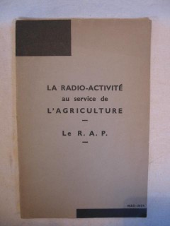 La radio activité au service de l'agriculture