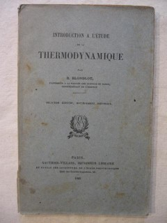 Introduction à l'étude de la thermodynamique