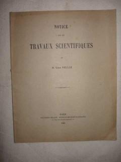 Notice sur les travaux scientifiques de Léon Velluz