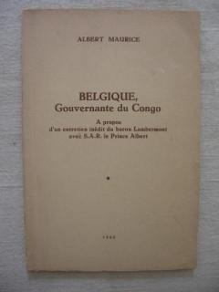 Belgique, gouvernante du Congo
