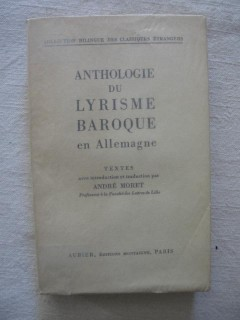 Anthologie du lyrisme baroque en Allemagne