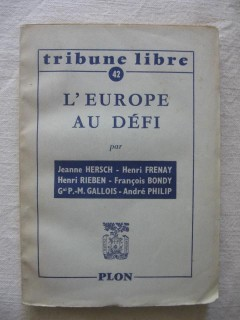 L'Europe au défi