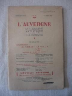 L'Auvergne littéraire artistique et historique, n°88