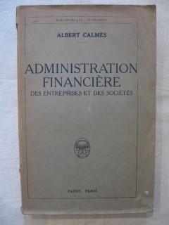 Administration financière des entreprises et des sociétés