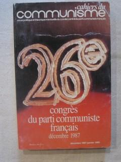 cahiers du communisme, 26e congrés du PC