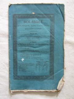 BOUSSOLE politique, administratif et littéraire, T3, XXVe livraison