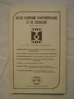 Revue ivoirienne d'anthropologie et de sociologie