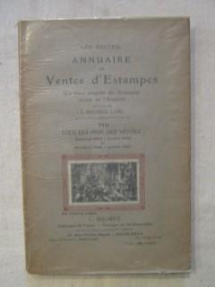 Annuaire des  ventes d'estampes