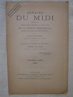Annales du midi, table