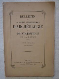 Bulletin de la société départementale d'archéologie et de Statistique de la Drôme