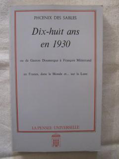 Dix huit ans en 1930
