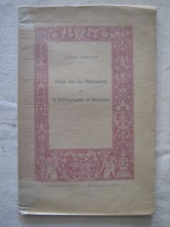 Essai sur les manuscrits et la bibliographie de Ruzzante