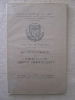 Index verborum in quinti sereni mibrum medicinalem