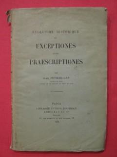 Evolution historique des exceptiones et des praescriptiones