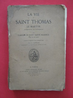 La vie de Saint Thomas, le martyr