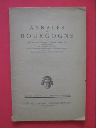 Annales de Bourgogne, revue historique trimestrielle tome XXII, fascicule I janvier-mars