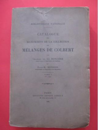 Catalogue des manuscrits de la collection des mélanges de Colbert (tome 1)