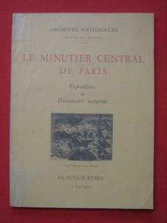 Le minutier central de Paris