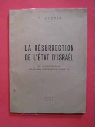 La résurrection de l'état d'Israël