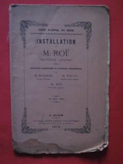 Installation de M. Roë, procureur général