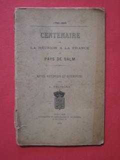 Centenaire de la réunion à la France du pays de Salm