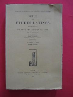 Revue des études latines, tome XXXVII