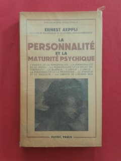 La personnalité et la maturité psychique