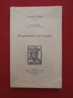 Propositions sur Catulle