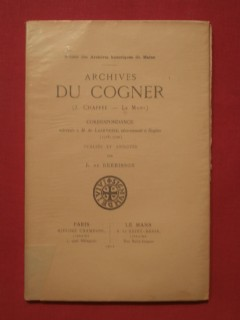Archives du Cogner, correspondance