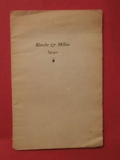 Blanche et Méline, églogue