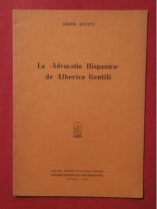 La advocatio hipanica de Alberico Gentili