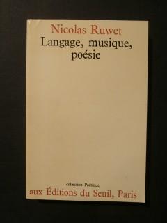 Langage, musique, poésie