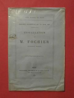 Installation de M. Fochier