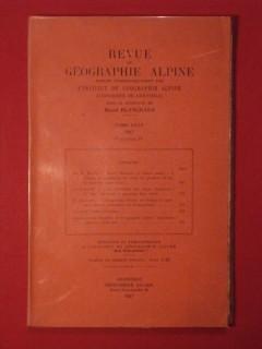 Revue de géographie alpne, tome XXXV, fascicule IV
