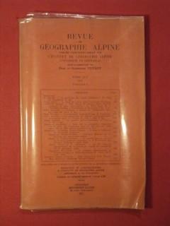 Revue de géographie alpine, tome XLV, fascicule I