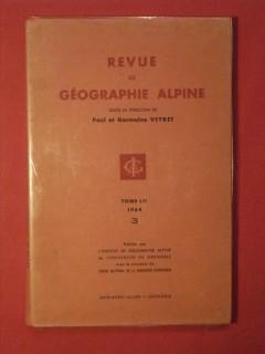 Revue de géographie alpine, tome LII, fascicule 3
