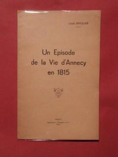 Un épisode de la vie d'Annecy en 1815