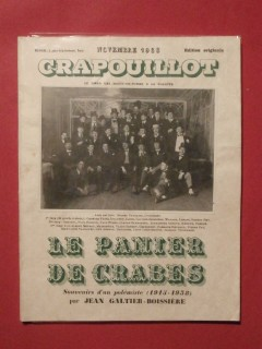 Le panier de crabes, souvenirs d'un polémiste,  le crapouillot, novembre 1933