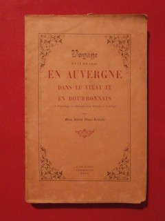 Voyage fait en 1854 en Auvergne dans le Velay et en Bourbonnais