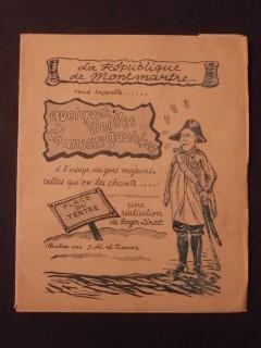 La république de Montmartre vous rappelle...quelques vieilles chansons gauloises
