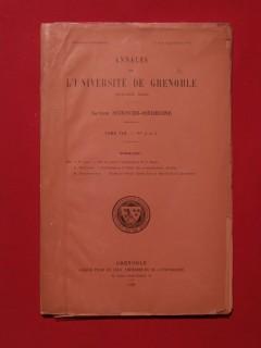 Annales de l'université de Grenoble