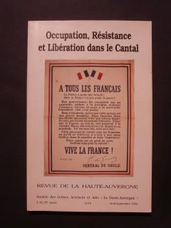 Occupation, résistance et libération dans le Cantal