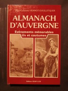 Almanach d'Auvergne, événements mémorables, us et coutumes