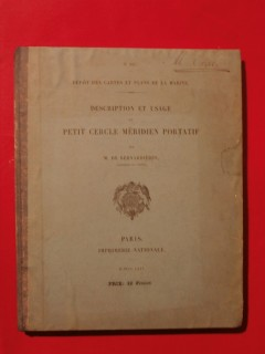 Description et usage du petit cercle méridien portatif